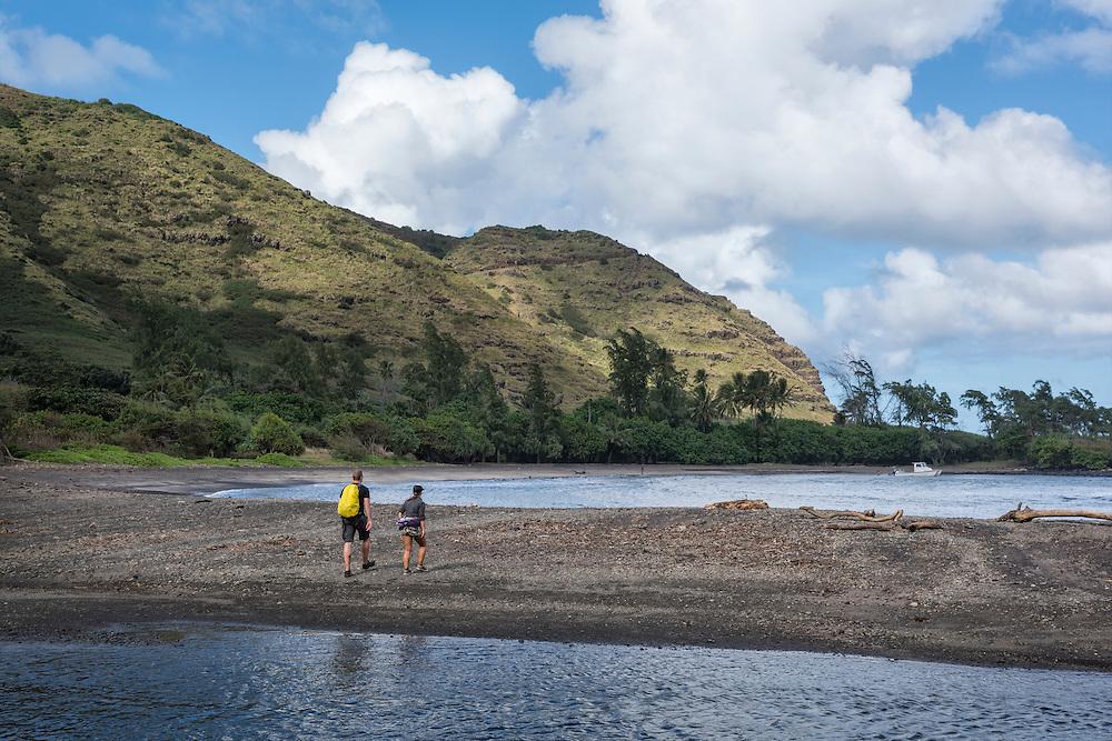 USA, Hawaii, Molokai, tropical,Halawa valley,