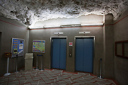 Elevator shaft which carries visitors from the surface to the Big Room, Carlsbad Caverns National Park, New Mexico, United States of America
