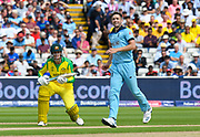 Chris Woakes of England during the ICC Cricket World Cup 2019 semi final match between Australia and England at Edgbaston, Birmingham, United Kingdom on 11 July 2019.