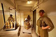 Fort Siloso. Recreation of British Army life in WW2. British artillery post. Underground ammunition depot.