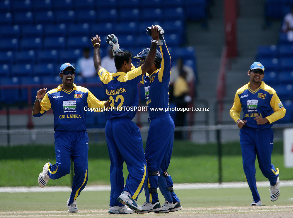B McCullum is bowld by Kulasekara. New Zealand Black Caps v Sri Lanka, international exhibition Twenty 20 cricket match, Central Broward Regional Park, Florida, United States of America. 23 May 2010. Photo: Barry Bland/PHOTOSPORT