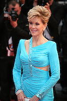 Actress Jane Fonda at the red carpet for the gala screening of Jimmy P. Psychotherapy of a Plains Indian film at the Cannes Film Festival 18th May 2013