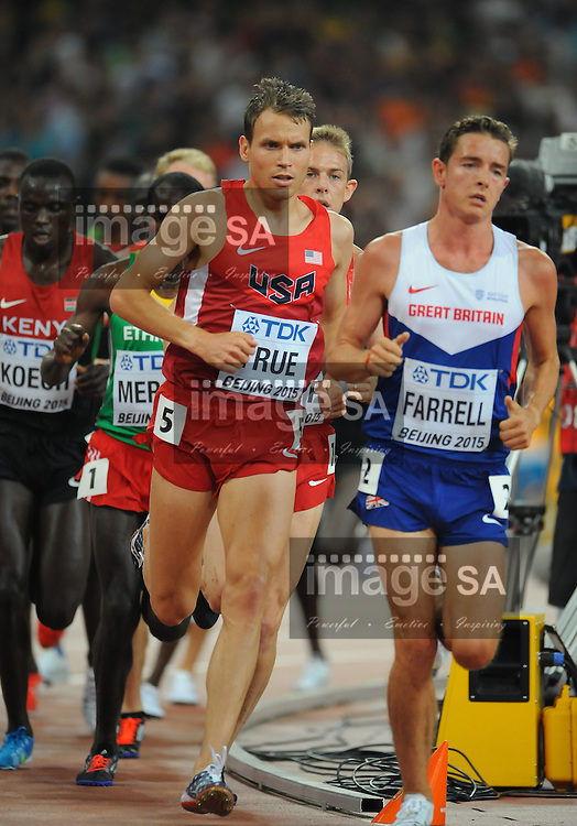 BEIJING, CHINA - AUGUST 29: Ben True of the USA in the mens 5000m final during day 8 of the 2015 IAAF World Championships at the National Stadium (Bird's Nest) on August 29, 2015 in Beijing, China. (Photo by Roger Sedres/Gallo Images)