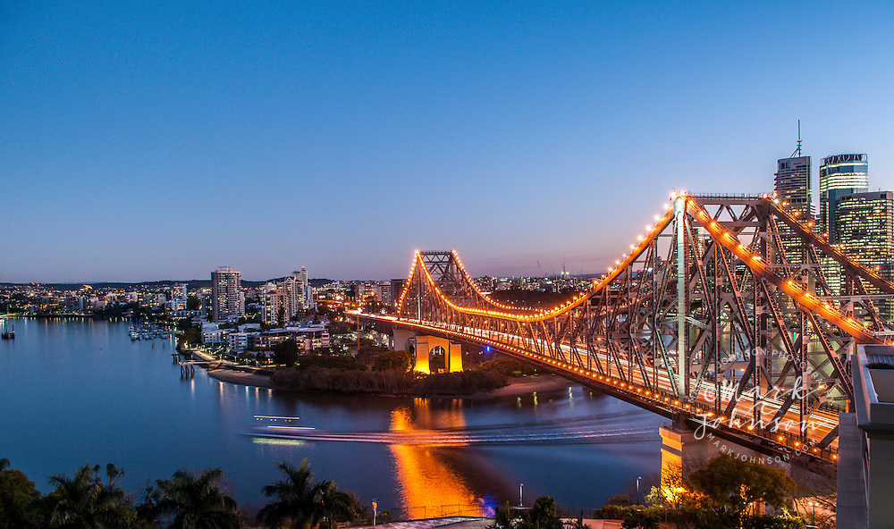 Story  Bridge over the Brisbane River, Brisbane, Queensland, Australia