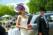 ISABEL KRISTENSEN; KIM WORSOE; , Royal Ascot. Tuesday. 14 June 2011. <br /> <br />  , -DO NOT ARCHIVE-© Copyright Photograph by Dafydd Jones. 248 Clapham Rd. London SW9 0PZ. Tel 0207 820 0771. www.dafjones.com.