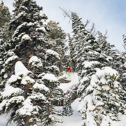 Tigger Knecht gets air in the Teton backcountry near JHMR.