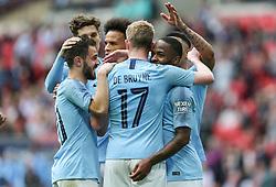 Raheem Sterling of Manchester City celebrates scoring to make it 6-0 - Mandatory by-line: Arron Gent/JMP - 18/05/2019 - FOOTBALL - Wembley Stadium - London, England - Manchester City v Watford - Emirates FA Cup Final
