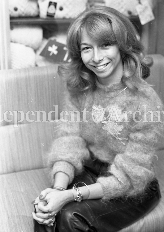 Helen Worth who plays Gail Tilsley in ITV Coronation Street, 26/10/1984 (Part of the Independent Newspapers Ireland/NLI Collection).