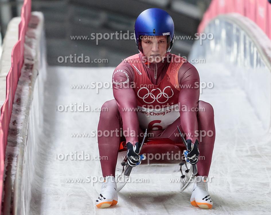 11.02.2018, Olympic Sliding Centre, Pyeongchang, KOR, PyeongChang 2018, Rodeln, Herren, 3. Lauf, im Bild Roman Repilov (OAR) // Roman Repilov of Olympic Athlete from Russia during the Men's Luge Singles Run 3 competition at the Olympic Sliding Centre in Pyeongchang, South Korea on 2018/02/11. EXPA Pictures © 2018, PhotoCredit: EXPA/ Johann Groder