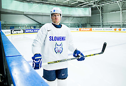 Ales Music of Slovenia during practice session of Slovenian Ice Hockey National Team at Day 4 of 2015 IIHF World Championship, on May 4, 2015 in Practice arena Vitkovice, Ostrava, Czech Republic. Photo by Vid Ponikvar / Sportida