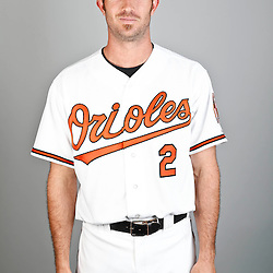 Feb 22, 2013; Sarasota, FL, USA; Baltimore Orioles shortstop J.J. Hardy (2) at the Orioles clubhouse. Mandatory Credit: Derick E. Hingle-USA TODAY Sports
