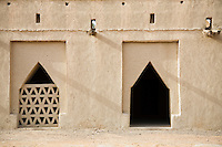 UAE, Dubai, architectural detail of Al Jahli Fort