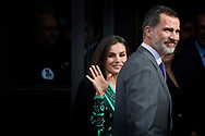 King Felipe VI of Spain, Queen Letizia of Spain attends  Commemorative lunch of the 80th anniversary of the Marca newspaper at Royal Theater on December 13, 2018 in Madrid, Spain