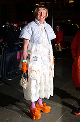 Grayson Perry attends a VIP private view of David Bailey: Bailey's Stardust, a major exhibition showcasing the work of acclaimed fashion photographer David Bailey, providing a retrospective of his career during which he has photographed stars including The Beatles, Andy Warhol and Jack Nicholson. Sponsored by Hugo Boss, at National Portrait Gallery, St Martin's Place,  London, United Kingdom. Monday, 3rd February 2014. Picture by Nils Jorgensen / i-Images