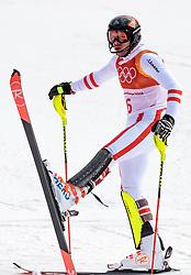 22.02.2018, Yongpyong Alpine Centre, Pyeongchang, KOR, PyeongChang 2018, Ski Alpin, Herren, Slalom, 2. Durchgang, im Bild Michael Matt (AUT, 3. Platz) // bronce medalist Michael Matt of Austria reacts after the men's 2nd run Slalom race of the Pyeongchang 2018 Winter Olympic Games at the Yongpyong Alpine Centre in Pyeongchang, South Korea on 2018/02/22. EXPA Pictures © 2018, PhotoCredit: EXPA/ Johann Groder