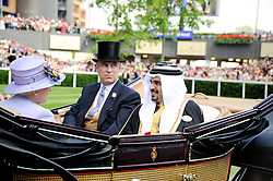 Left to right, HRH The DUKE OF YORK and ? at the third day of the Royal Ascot 2010 (Ladies Day) Racing Festival at Ascot Racecourse, Bershire on 17th June 2010.