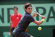 Roland Garros. Paris, France. May 30th 2012.Swiss player Roger FEDERER against Adrian UNGUR.