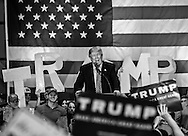 Republican presidential candidate Donald Trump at his campaign rally in New Orleans. <br /> The New Orleans rally on Friday, March 4, 2016 at Lakefront Airport took place a day before the primary vote.