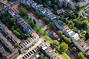 Nederland, Zuid-Holland, Rotterdam, 15-07-2012; Binnenstad, Westersingel, Van Oldenbarneveltstraat, Eendrachtsweg en Eendrachtsplein.Residential district in the center of Rotterdam, Westersingel (canal).  luchtfoto (toeslag), aerial photo (additional fee required).foto/photo Siebe Swart