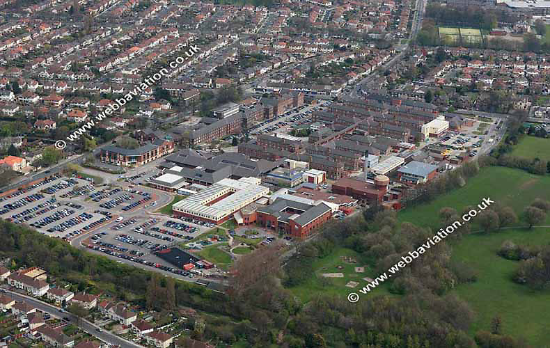 aerial photograph of Alderhey Hospital Liverpool Merseyside England  UK