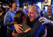 Jennifer Cowherd gets a warm hug from friend Allan Gonce at the 5th Annual Nashville Pride Pre-Party and Awards at Hard Rock Cafe in Nashville, Tenn. on Thursday, June 23, 2016. The 28th Annual Nashville Pride Festival & Concert is slated to take place at Public Square Park on June 24 - 25, 2016.