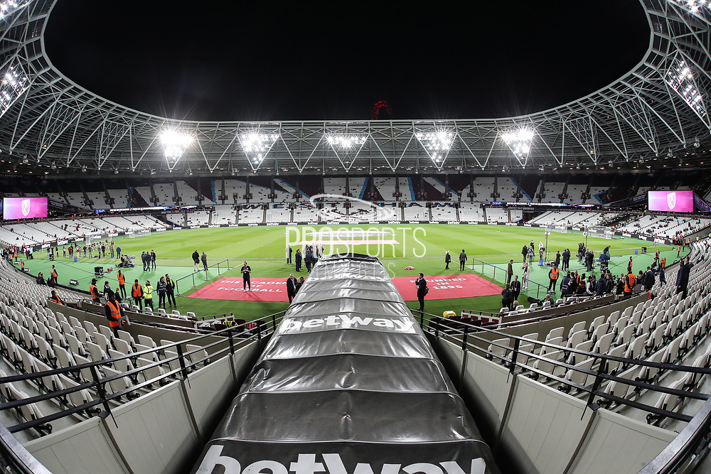 A general view of the London Stadium before the Premier League match between West Ham United and Brighton and Hove Albion at the London Stadium, London, England on 20 October 2017. Photo by Toyin Oshodi.