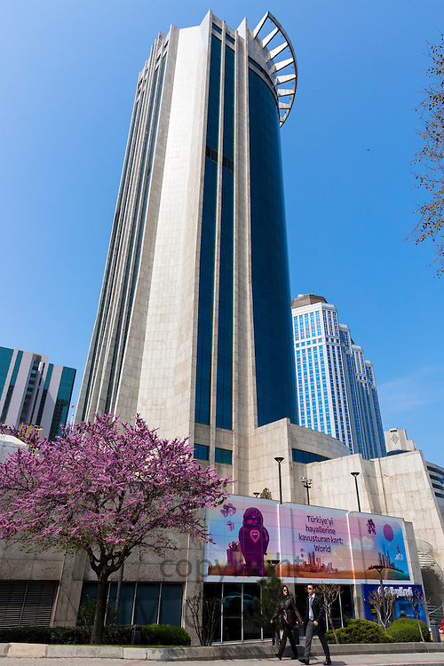 Yapi Kredi Bank Plaza and Sisecam glassmaker Science Technology center, Levent financial business district Istanbul, Turkey