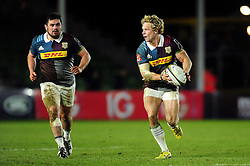 Matt Hopper of Harlequins in possession - Mandatory byline: Patrick Khachfe/JMP - 07966 386802 - 03/02/2017 - RUGBY UNION - The Twickenham Stoop - London, England - Harlequins v Sale Sharks - Anglo-Welsh Cup.