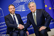 Antonio TAJANI - EP President meets with Andrea STELLA - Proect ' WOW - Wheels on Waves '
