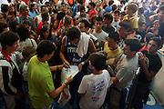 BORMIO 01 AGOSTO 2007<br /> BASKET NAZIONALE ITALIANA<br /> ITALIA-CROAZIA<br /> NELLA FOTO: BELINELLI TIFOSI<br /> FOTO CIAMILLO-CASTORIA