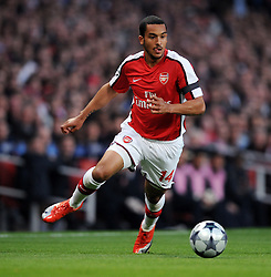 Theo Walcott in action during the match between Arsenal and Villarreal (3-0) 15/04/09 at Emirates Stadium.The UEFA Champions League Q/Final 2nd Leg.