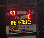 Full time score - Dundee  v Queen of the South - SPFL Championship at Dens Park<br /> <br />  - &copy; David Young - www.davidyoungphoto.co.uk - email: davidyoungphoto@gmail.com