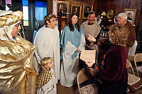 The Living Nativity performed by actors from the First United Methodist Church and Gilford Community Church at the Thompson-Ames Historical Society December 12, 2010