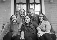 Grace Bradley with family and girlfriends. ©2017 Karen Bobotas Photographer