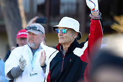 """Feb 6, 2019 Pebble Beach, Ca. USA TV, Film and singing stars that included LARRY THE CABLE GUY and BILL MURRAY whom played in the """"3M Celebrity Challenge"""" to try for part of the 100K purse to go to their favorite charity and win the Estwood-Murray cup, for which team Clint Eastwwod's group won.. The event took place during practice day of the PGA AT&T National Pro-Am golf on the Pebble Beach Golf Links. Photo by Dane Andrew c. 2019 contact: 408 744-9017  TenPressMedia@gmail.com"""