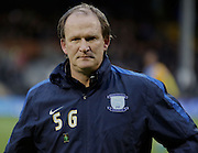 Preston Manager Simon Grayson during the Sky Bet Championship match between Fulham and Preston North End at Craven Cottage, London, England on 28 November 2015. Photo by Pete Burns.