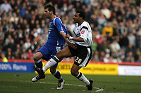 Photo: Pete Lorence.<br />Derby County v Cardiff City. Coca Cola Championship. 17/03/2007.<br />Giles Barnes (R) shoots past the keeper, taking Derby into the lead.
