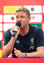 HONG KONG, CHINA - Thursday, June 6, 2019: Liverpool Legends' Stephane Henchoz during a press conference at the Hong Kong Stadium ahead of an exhibition match between Liverpool FC and Borussia Dortmund. (Pic by Jayne Russell/Propaganda)