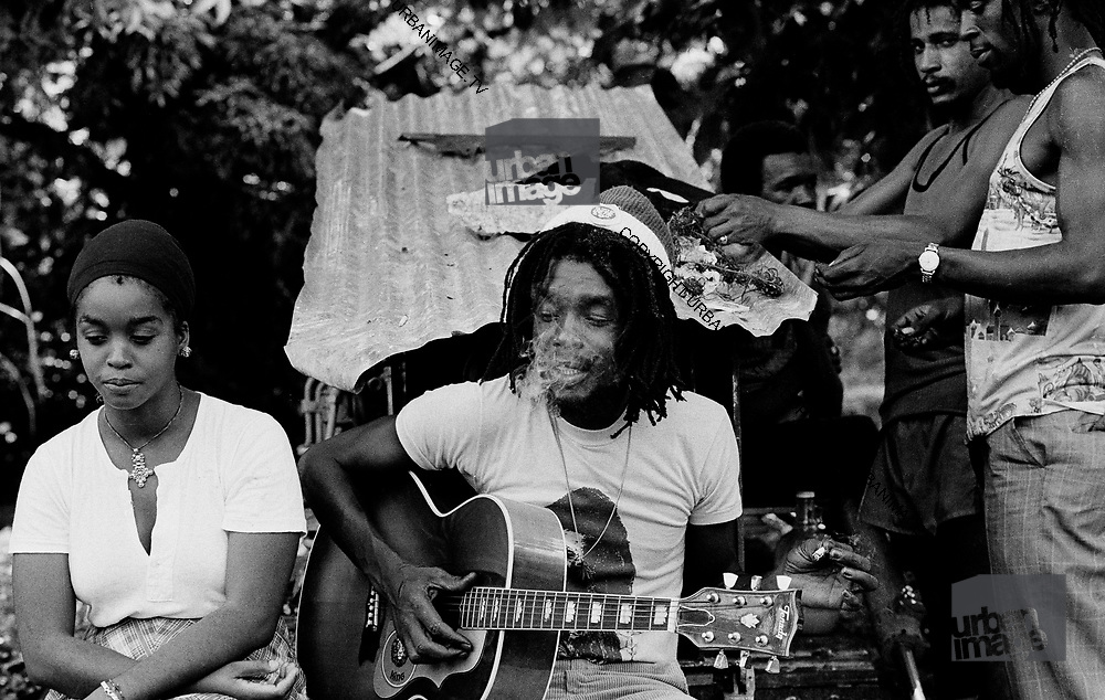 Peter Tosh and wife Marlene at Hectors River - Jamaica 1978