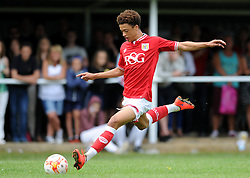 Ash Harper of Bristol City scores to make it 5-0 - Photo mandatory by-line: Dougie Allward/JMP - Mobile: 07966 386802 - 05/07/2015 - SPORT - Football - Bristol - Brislington Stadium - Pre-Season Friendly