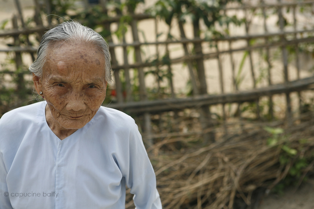 Hoi An, Vietnam. March 14th 2007..An old woman in the village of Cam Thanh.