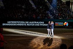 Michael Jung und Kim Kreling<br /> Leipzig - Partner Pferd 2020<br /> Reiter unterstützen Reiter<br /> Sparkasse Sport-Gala<br /> 17. Januar 2020<br /> © www.sportfotos-lafrentz.de/Stefan Lafrentz