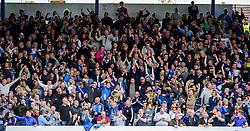 Bristol Rovers fans celebrate after Matt Harrold (ENG) scores - Photo mandatory by-line: Rogan Thomson/JMP - 07966 386802 - 19/04/2014 - SPORT - FOOTBALL - Fratton Park, Portsmouth - Portsmouth FC v Bristol Rovers - Sky Bet Football League 2.