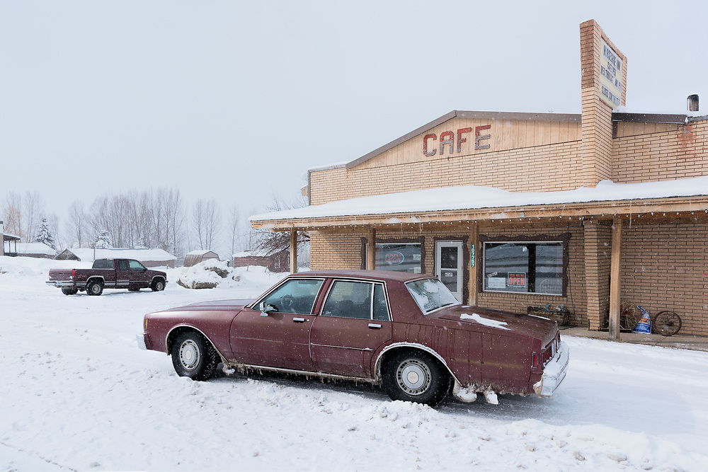 USA,Wyoming,Etna, Horseshoe Inn, February 25 2017, RAW