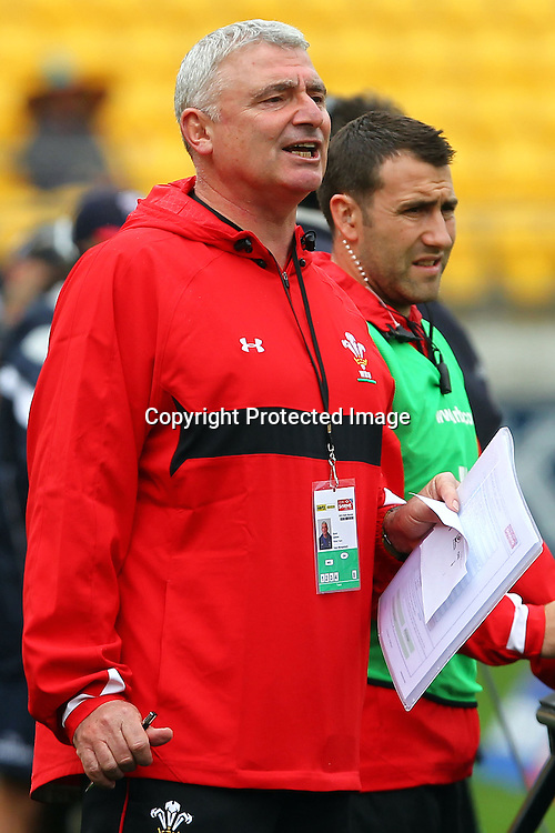 Wales team manager Dai Jenks. Hertz Wellington Sevens - Day two at Westpac Stadium, Wellington, New Zealand on Saturday, 4 February 2012. Photo: Ella Brockelsby / photosport.co.nz
