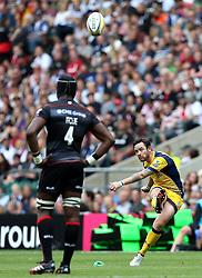 Ryan Lamb of Worcester Warriors kicks a penalty over the posts - Mandatory by-line: Robbie Stephenson/JMP - 03/09/2016 - RUGBY - Twickenham - London, England - Saracens v Worcester Warriors - Aviva Premiership London Double Header