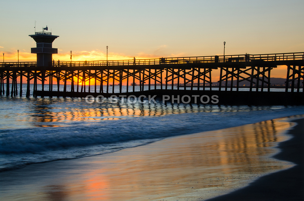 Seal Beach Pier Reflection at Sunset
