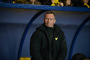 Oxford United Head Coach Michael Appleton during the Sky Bet League 2 match between Oxford United and York City at the Kassam Stadium, Oxford, England on 1 March 2016. Photo by Adam Rivers.