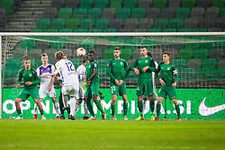 Players during football match between NK Olimpija Ljubljana and NK Maribor in 1st leg match in Quaterfinal of Slovenian cup 2017/2018, on November 11, 2017 in SRC Stozice, Ljubljana, Slovenia.  Photo by Ziga Zupan / Sportida
