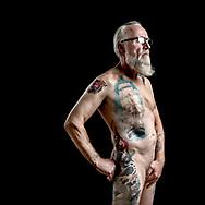 Sømænd og deres tatoveringer. Her Torben Fritz.